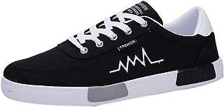 Scarpe Uomo Scarpe Casual Resistente all'Usura Sneaker Comoda Allacciata Punta Tonda (41 EU,1- Bianca)