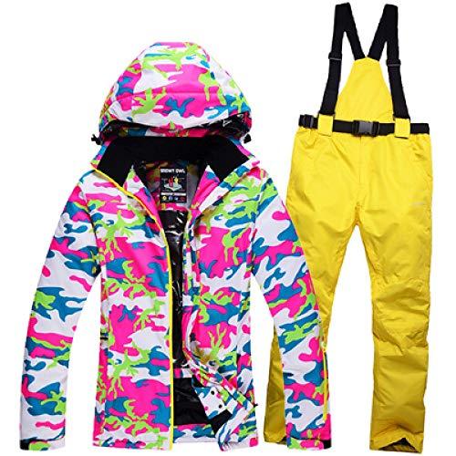 Skipak JSGJHXFSnowy Owl Hoogwaardig skipak is een Zuid-Koreaans snowboard dubbelboard ademend winddicht skijack skibroek