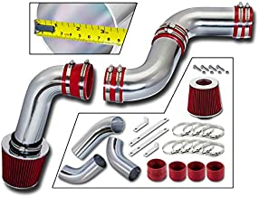 Rtunes Racing Cold Air Intake Kit + Filter Combo RED Compatible For 99-07 Chevy Silverado/GMC Sierra 1500 4.3L Model
