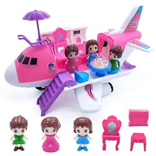 Ynybusi Airplane Toy - Huge Transport Doll Dream Plane Transforming Playset Toy Gift...