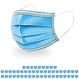 Mundschutz Einwegmasken 50er Pack Gesichtsmasken 3lagig blau Versand aus Deutschland
