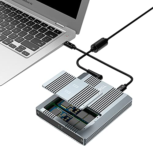 Thunderbolt 3 Two-Slot M.2 NVMe SSD Enclosure Support Thunderbolt 2 Compatible with New M1 CPU