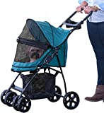 Pet Gear No-Zip Happy Trails Lite Pet Stroller for Cats/Dogs, Zipperless Entry, Easy Fold with Removable...
