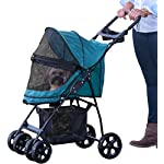 Pet Gear No-Zip Happy Trails Lite Pet Stroller for Cats/Dogs, Zipperless Entry, Easy Fold with Removable Liner, Storage Basket + Cup Holder, Pine Green (PG8030NZPGA) 6
