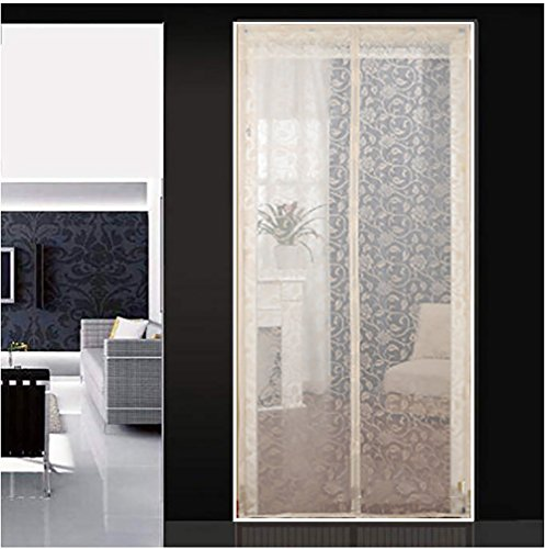 Q&F Magnetic screen door with heavy duty Mesh doors screen Open and close automaticly Magnet door curtain-B 90x220cm(35x87inch)