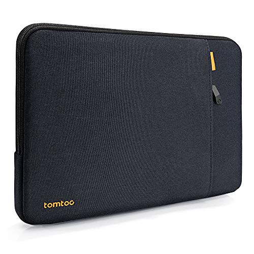 tomtoc 360 Protective Laptop Sleeve for 13 Inch Dell XPS, Huawei MateBook X Pro, 12.9-inch iPad Pro 2018-2020, 11.6 Inch Spill-Resistant Notebook Bag Case with Accessory Pocket
