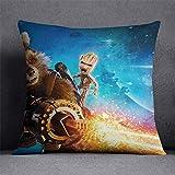 Fundas de colchón Guardianes de la Galaxia Star Lord Raccoon Groot Funda de Almohada Funda de cojín de Lino de algodón Fundas Vacaciones Festivas Decoración para el hogar Funda de Almohada de
