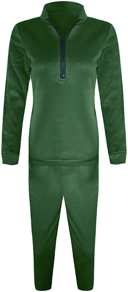 Chaofanjiancai Women Casual Tracksuit 2 Piece Outfit Fashion Color Block Hooded Sweatshirt Top /& Long Pants Activewear