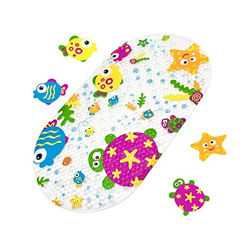 Yolife - Tappetino da Bagno Antiscivolo con Ventosa, per Bambini (Animale dell'Oceano)