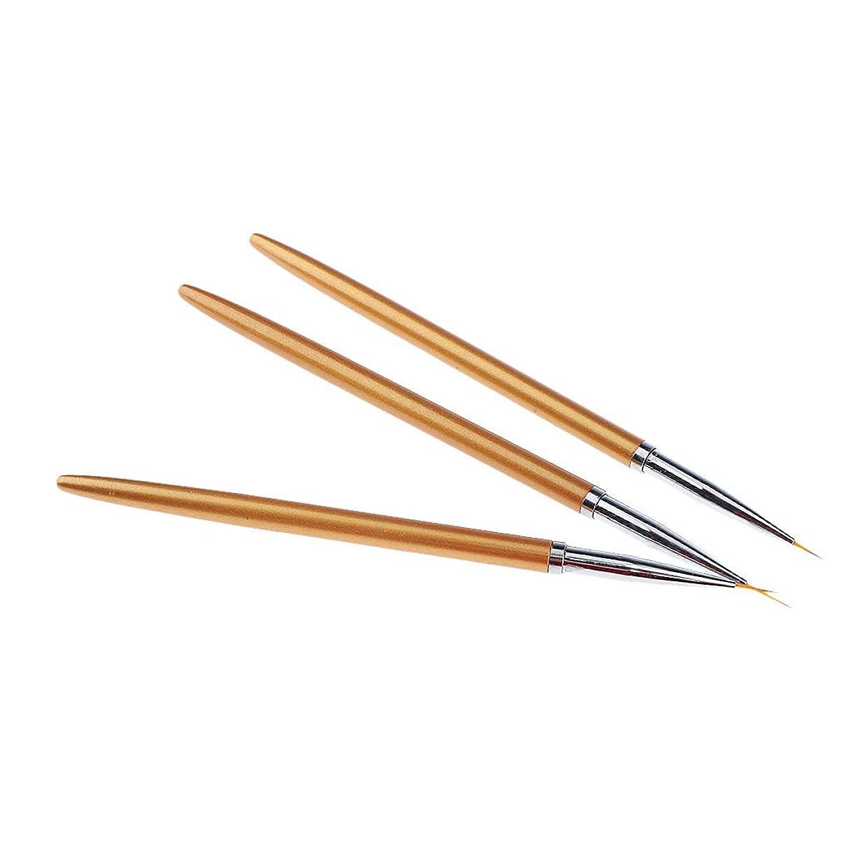 剃る発明するアニメーションF Fityle 3本 ネイルアートペン ネイルブラシセット