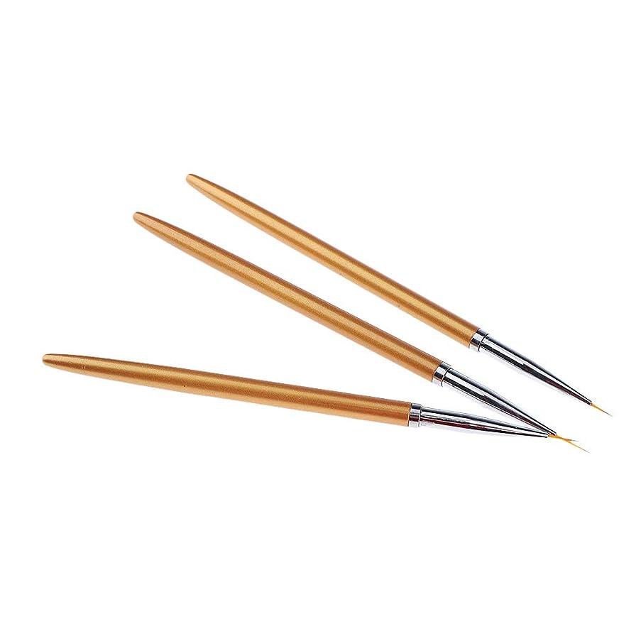コンプライアンス厚いごみB Baosity 3本 ネイルアートブラシ 絵画ペン アクリル ネイルヒント DIY 3Dネイル