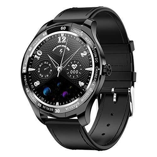 PADGENE Smartwatch, Smartwatch für Männer mit Herzfrequenzmesser, Kalorien, Schlafmonitor, Stoppuhren, Schrittzähler, Activity Tracker für Android/iOS (Schwarz - PU)