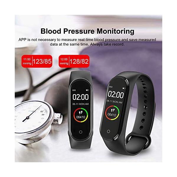 bqlove M4 Fitness Tracker, Reloj De Seguimiento De Actividad con Monitor De Ritmo CardíAco, Banda De Fitness Inteligente… 6