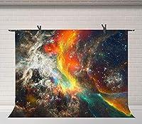 HDギャラクシー星空写真撮影背景夢のような星雲宇宙背景スタジオ小道具背景10x7ftBJQQFU64