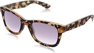 نظارة شمس بعدسات شبه مربعة متدرجة اللون وشنبر منقوش للنساء من ايطاليا انديبندنت - ارجواني