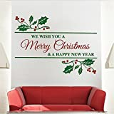 designyours Merry Christmas Wall Stickers Christmas Wall Decals Removable Vinyl Christmas Stickers for Teachers