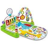 Fisher-Price Tapis musical d'éveil et d'activité Piano Deluxe pour bébé, 4 modes de jeu avec lumières et musique, dès la...