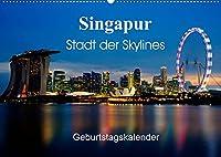 Singapur Stadt der Skylines (Wandkalender 2022 DIN A2 quer): Einzigartige Aufnahmen einer asiatischen Metropole (Geburtstagskalender, 14 Seiten )