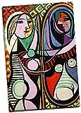Cuadro de impresión sobre lienzo de Pablo Picasso Girl Before A Mirror de 76 x 50 cm