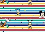 Mickey Maus Disney Jersey Stoff – Disney Streifen –
