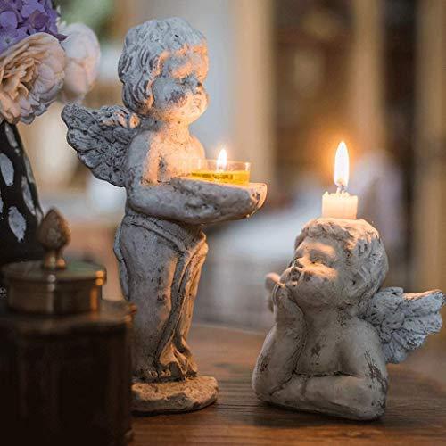 Kerzenhalter Engel Kerzenhalter Dekoration Lebensmittelgarten Innenhof Beton Retro kleine Öllampen Hochzeit Weihnachten Tischdekoration