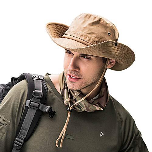 Dsaren Cappello da Pescatore per Esterni Cappello Estivo con Protezione UV a Bordi Larghi per Escursionismo/Campeggio/Viaggio (Cachi)