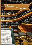 Désolé j'ai musique: Cahier de musique   Carnet de partitions vierge   12 portées par page   Format A4 (21 x 29,7 cm) 108 pages