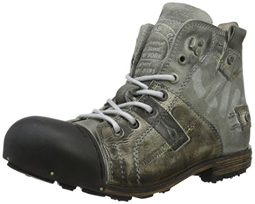 Yellow Cab Herren Industrial M Biker Boots, Grau (Moss), 46 EU