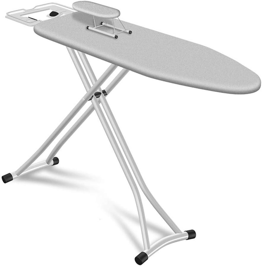 Ironing Boards Anti-escaldado Suministros Cuarto de Lavado, doblan hacia Abajo Tabla de Planchar Interior del Hotel con Bandeja de Planchado Rack Planchar Camisas con Altura Ajustable Home Essentials