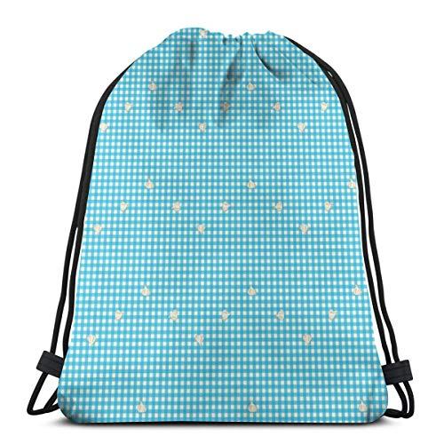 Bolsas de ajo, diseño de cuadros con cordón, ligera, para senderismo, yoga, gimnasio, natación, viajes, playa