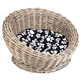 Me & My Pets Circular Woven Basket Bed