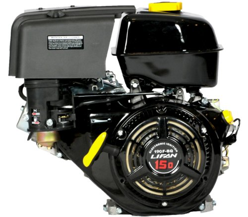 Lifan LF190F-BDQC 15 HP 420cc 4-Stroke OHV Industrial Grade Gas Engine with Electric Start, 18 Amp External Charging System and Universal Mounting Pattern