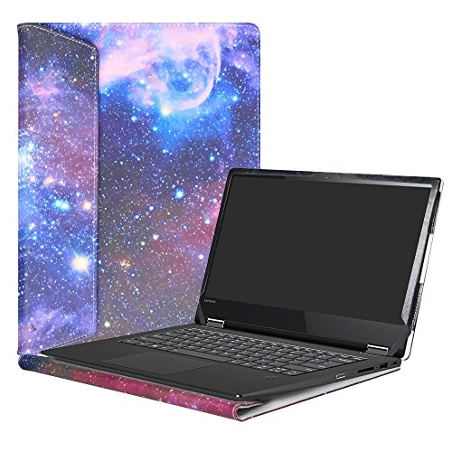 """Alapmk Diseñado Especialmente La Funda Protectora de Cuero de PU Para 14"""" Lenovo Yoga 530 530-14IKB/Yoga 520 520-14ISK 520-14IKB Series Ordenador portátil,Galaxy"""