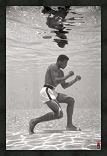 Muhammad Ali Training Underwater, photo by Schulke, framed print 38
