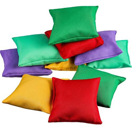 Patelai 10 Stück Nylon Sitzsäcke, Sitzsäcke Karnevalsspielzeug für Wurfspiel