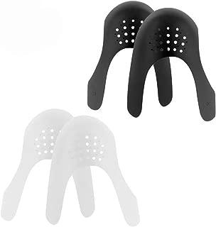 DSWTO Shoe Anti Wrinkle Shields Decrease Sneaker Shoe Toebox Crease Preventers for Women Teenagers (Women White+Black)