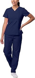 Sivvan Women's S8401nvyxl Medical Scrubs, Navy, XL UK