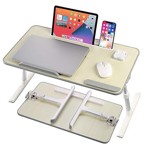 GUIFIER Adjustable Laptop Desk, Portable Adjustable Laptop Bed Table for Laptop Stand Reading Holder