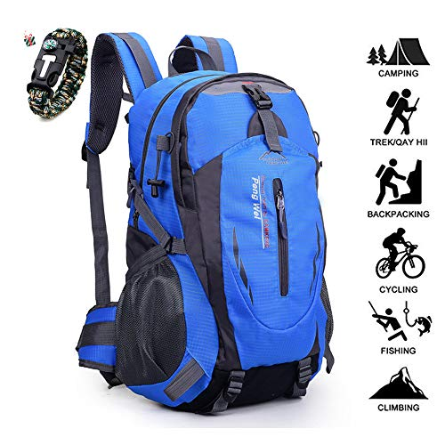 Odot 50L Ultra Lightweight Backpack Foldable Hiking Daypack Waterproof Rucksack Travel Bag for Men Women Outdoor Camping Mountaineering Walking Cycling Climbing (50L,Blue)
