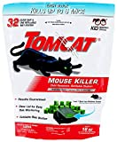 Tomcat Mouse Killer Refillable Bait Station for Indoor Use - Child Resistant, 1 Station with 32 Baits (Bag)