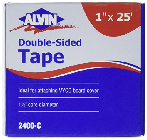 Alvin, 1 Inch Double Sided Tape, Multipurpose Tape for Arts and Crafts, Great for Woodworking and Home Improvement - 25 Feet