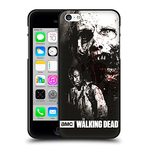 Head Case Designs Oficial AMC The Walking Dead Morgan Y Lurker Sangre Funda de Gel Negro Compatible con Apple iPhone 5 / iPhone 5s / iPhone SE 2016