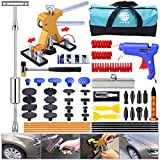 YOOHE Dent Puller Kit - 53pcs Paintless Dent Repair Kit with Slide Hammer T-Bar Dent Puller and Adjustable Gold Dent Lifter Puller for Car Hail Damage Dent & Ding Remover