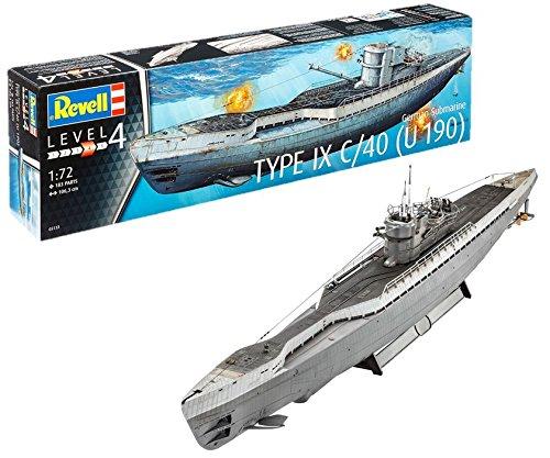 Revell Maqueta Submarino alemán Type IX C/40, Kit Modello