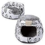 Navaris Cama y Cueva para Gatos 2 en 1 - Cesta para Perros y Gatos con Forma de iglú - Cojín Grande y Plegable para Mascotas - Suave y Acolchada