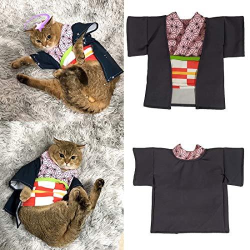 Bulex Pet Costume for Cat Small Dog, Pet Cosplay Clothes for Anime Demon Slayer: Kamado Nezuko