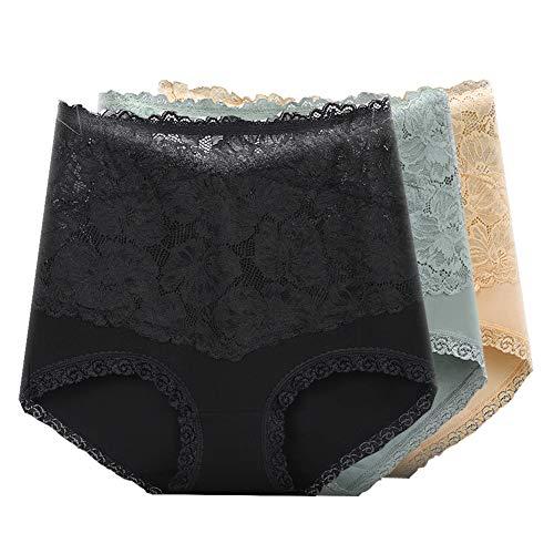JIAYANLH Damen Unterwäsche Unterhosen Damen Bauchweg Baumwolle Frauen Slip High Waist Taillenslip Atmungsaktive (E,M)