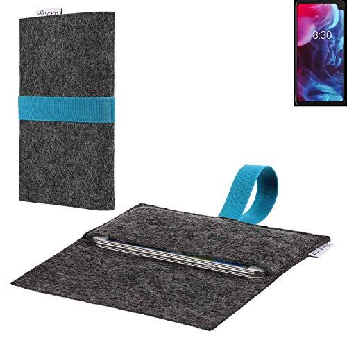 flat.design vegane Handy Hülle Aveiro für Archos Oxygen 63XL passexakte Filz Tasche Hülle Sleeve Made in Germany