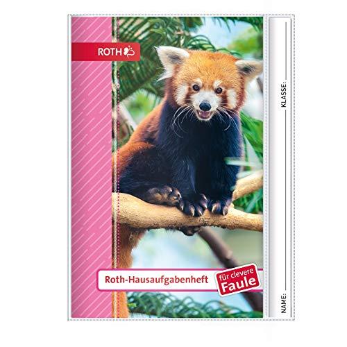 ROTH Hausaufgabenheft - Kids und Tiere für clevere Faule, A5 mit Hülle, 1 Woche 2 Seiten, Kleiner Panda