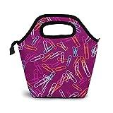 Borsa per il pranzo con graffette, borsa termica in neoprene per organizer per il pranzo, ...